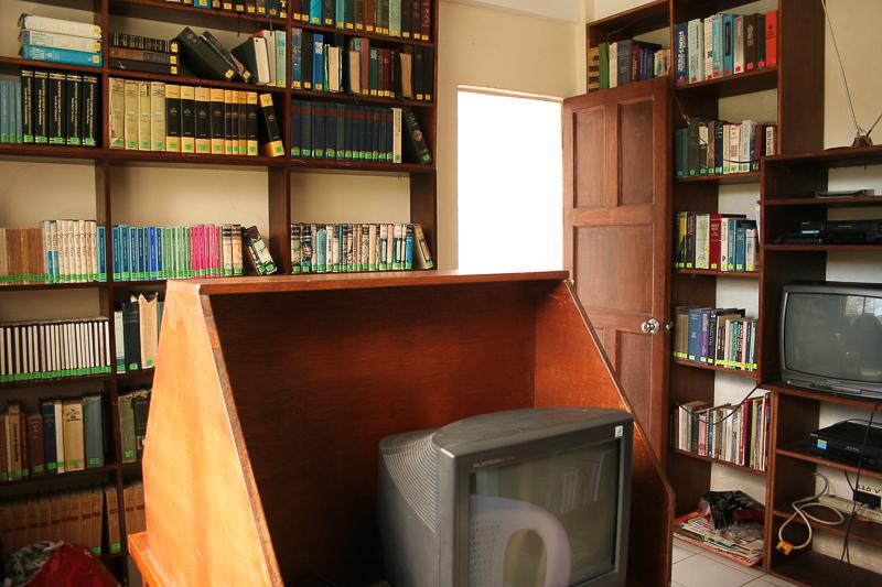 library & media room