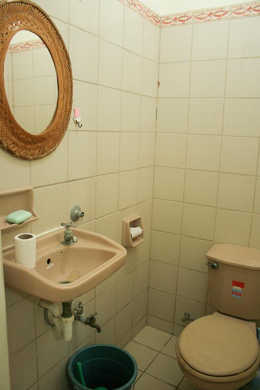 Master bedroom half-bath
